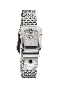 B. Fendi White Stainless Steel Diamond Watch on HauteLook