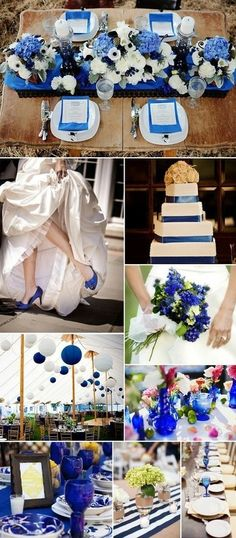 blue is love! Love the top table flowers