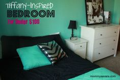 this site has before and after photos, tiffany inspired bedroom for teen, so neat and grown up!