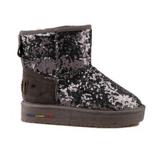 Thick Bottom Sequins Winter Ankle Boots