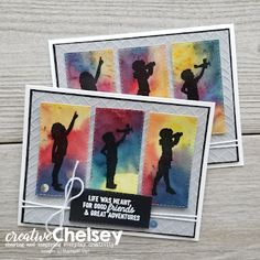 Creative Chelsey: New Handmade Card Making Technique - Pigment Sprinkles and Silhouette Scenes Stamp Set Handmade Card Making, Handmade Cards, Diy And Crafts, Paper Crafts, Stamping Up Cards, Card Making Techniques, Watercolor Background, Cool Cards, Making Ideas