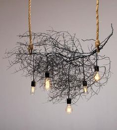 This tumbleweed chandelier is insane. Don't worry, that's a compliment.