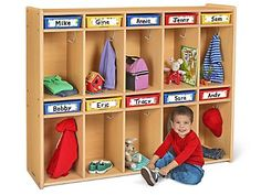 Heavy-Duty Storage & Communication Center at Lakeshore Learning Home Daycare Rooms, Kids Daycare, Toddler Classroom, Daycare Crafts, Daycare Ideas, Preschool Crafts, Daycare Cubbies, Classroom Cubbies, Daycare Organization