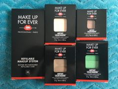 Make Up For Ever newly reformulated Artist Color Eye Shadows