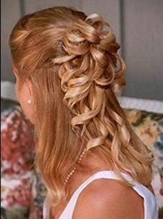 partially up hairstyles for weddings | One Response to FOTO acconciature sposa – capelli lunghi sciolti o ...