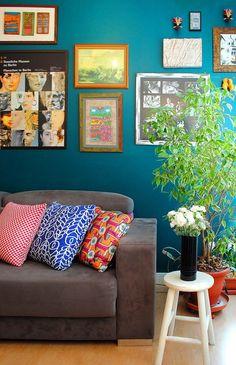 cores, estampas, quadros e plantas.
