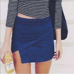 Brandy Skirt Denim skirt only worn a few times! Brandy Melville Skirts Mini