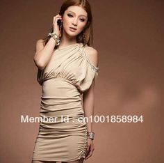 Aliexpress.com : Buy retail Summer Fashion women's sexy inclined shoulder backless slim waist tight mini stretch one piece Dress girl's lady clothes from Reliable dress suppliers on Chinarui trade International Clothes Co.,Ltd $5.30