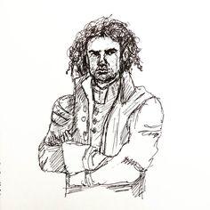 Poldark. My pen decided to splodge on the nose. Sigh. Never mind. He can still pass as sexy. #inktober #art #artoftheday #instaart #instaartist #instadraw #instadoodle #instasketch #artstagram #artist #ink #artistpen #artistoninstagram #ballpointpen #inktober2016  #doodle #sketch #illustration #sketchoftheday #Poldark #doodleoftheday #inkdrawing #perioddress #fanart #historical
