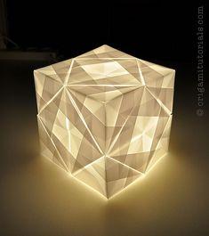 Sonobe Cube | Origami Lamp Cube Sonobe variation 24 units Tr… | Flickr