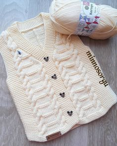 Creative Contents about DIY & Crafts, Knitting, Hairstyles, Beauty and more - Diy Crafts Diy Crafts 818951513466486771 Pi. Ladies Cardigan Knitting Patterns, Baby Boy Knitting Patterns, Knitting Designs, Baby Patterns, Knit Baby Sweaters, Knitted Baby Clothes, Baby Cardigan, Crochet Slippers, Knit Crochet