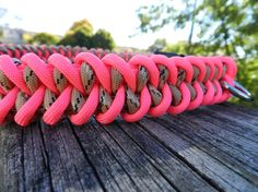 Pink and Camo Paracord Dog Collar by CJWPARACORD on Etsy