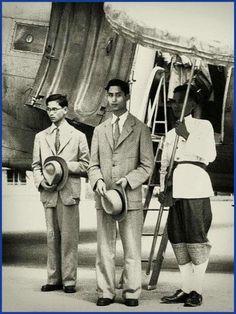 König Bhumibol und sein älterer Bruder