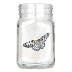 Butterfly Mason Jar - decor diy cyo customize home