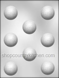 Golf Ball Chocolate Candy Mold
