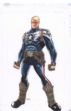 Steve Rogers | Captain America by Humberto Ramos *