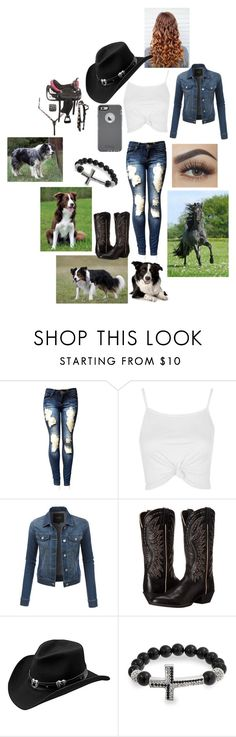 """""""Normal Day on the Farm"""" by maggie-white on Polyvore featuring interior, interiors, interior design, home, home decor, interior decorating, Topshop, LE3NO, Ariat and Master Hatters of Texas"""