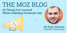 Kane Jamison is convinced Facebook Ads are one of the most powerful tools that we currently have as digital marketers, and he's going to share the 10 biggest hurdles that have caught him off guard since he started using Facebook Ads — all in the name of helping you avoid some of the same mistakes. Facebook Advertising Tips, Facebook Marketing, Inbound Marketing, Social Media Marketing, Online Marketing, Digital Marketing, Search Engine Marketing, Seo Services, Pinterest Marketing