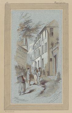 Rue Cortot à Montmartre, au coin de la rue du Mont Cenis (1879)   Flickr - Photo Sharing!