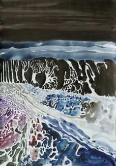 "Saatchi Online Artist: Ján Valík; Ink 2013 Painting ""Darkwood"""
