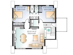 Garage Studio Apartment Plans garage apartment plan 64817 | total living area: 1068 sq. ft., 2