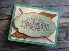 """Karte für viele Anlässe! Stampin' Up! Stempelset """"Großes Glück"""" + Simply Created Kartenset """"Malerischer Winter"""". http://dini.derschnipselgecko.com/karte-neueroeffnung/"""