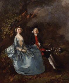 Sarah Kirby (née Bull) and John Joshua Kirby  by Thomas Gainsborough  oil on canvas, circa 1751-1752
