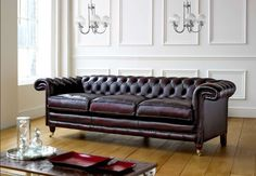 WANT THIS SOFA. this is definitely the color leather I want. Ages so nicely.