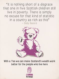 Poverty and social justice in Scotland #indyref