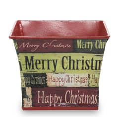 Square Christmas Metal Container - Extra Small 4in