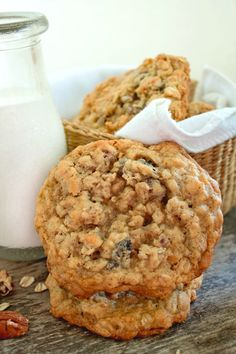 Soft and Chewy Oatmeal Raisin Pecan Cookies will quickly become your family's favorite cookie! A soft and chewy cookie loaded with raisins and pecans.
