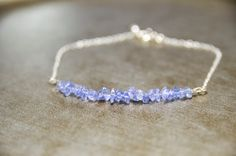 Tanzanite Bracelet Protective Gemstone Anti by CrystalMinded