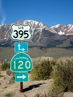 The Eastern sierras follows 395.  This is a special place!