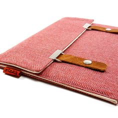 iPad case  pink herringbone by MariForssell on Etsy, $75.00