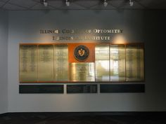 Illinois College of Optometry Illinois Eye Institute Donor Wall