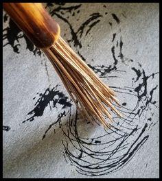 Handmade art paint brush by Elizabeth Schowachert