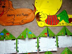 Henry and Mudge and the Starry Night fun Activities #Henry and Mudge #Reading Street #Camp Art Projects