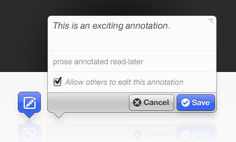 Apps like Annotateit allow students to place their notes directly onto images and text.