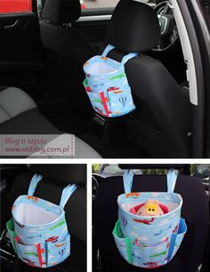 FREE dimensions and tutorial. Car Basket - free pattern & tutorial, not in English but with the great pictures I think I could make this easily enough. Sewing For Kids, Baby Sewing, Diy For Kids, Sewing Hacks, Sewing Tutorials, Sewing Patterns, Fabric Crafts, Sewing Crafts, Sewing Projects