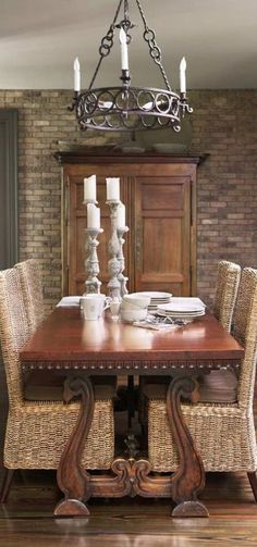 1000 images about home decor dining room tablescapes for Traditional dining room pinterest