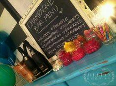 Champagne Bar!- chalkboard