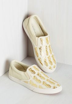 8df6198501 Tropical Illusion Slip-On Sneakers Gold Sneakers