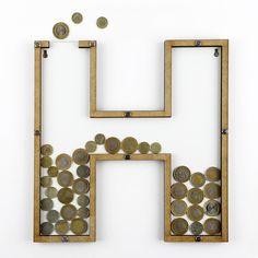 Dekorativní rámeček/kasička s plexisklem H