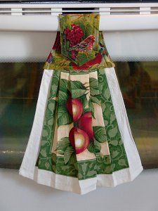 Rosemary Millette Orchard Visitor Bird Hanging Dish Towel - hand-made goods!