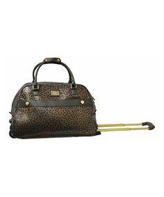 Pewter Leopard Wheeled Duffel  zulilyfinds Leopard Bag 19fa42f35fb9b