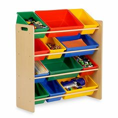 Honey-Can-Do Kids Toy Organizer and Storage Bins in Natural - $54.99