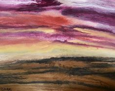 """Daily Painters Abstract Gallery: Original Abstract Landscape Painting """"Sky of Wonder"""" by Colorado Abstract Artist Kimberly Conrad"""