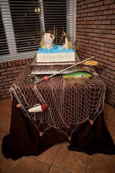 Groom's cake. Bass fish.