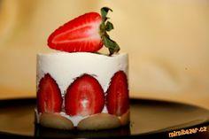 Smetanový dort jako minidezert