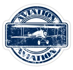 Vintage Aviation Badge | Sticker